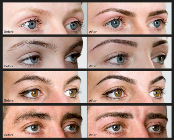 HD Brows before and after images