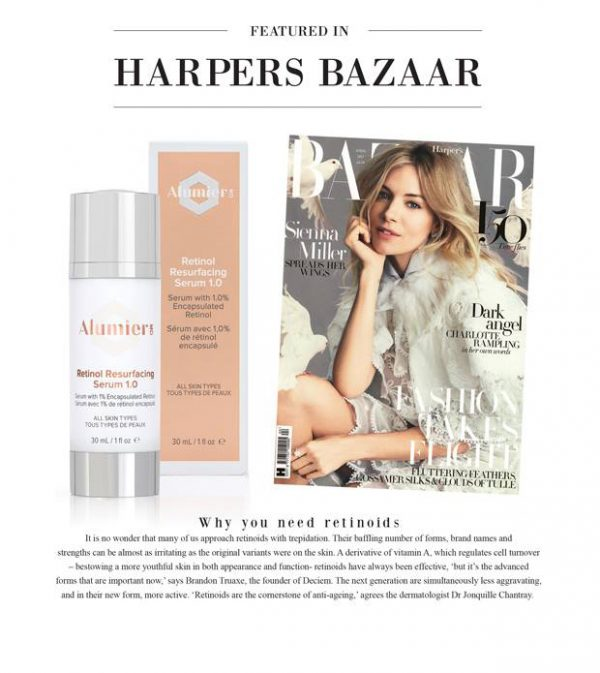 Alumier MD featured in Harpers Bazaar