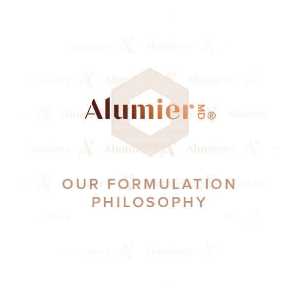 Alumier MD formulation philosophy